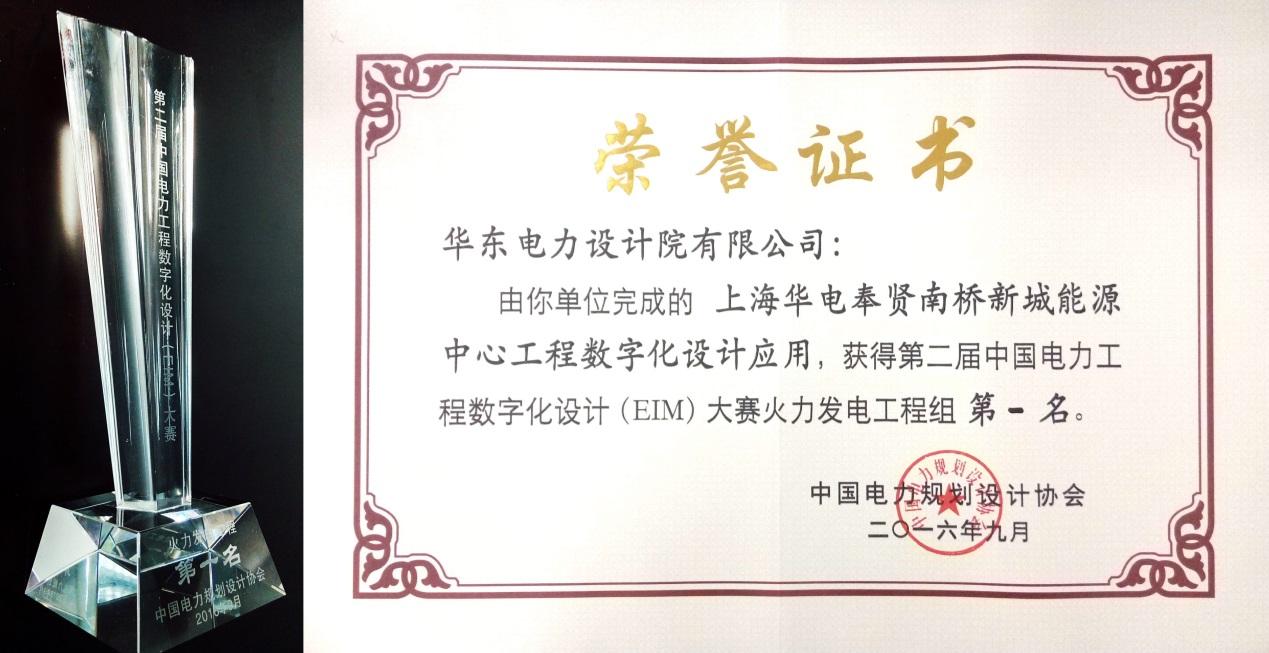 中电工程华东院在第二届中国电力工程数字化设计(eim)大赛中再创佳绩图片